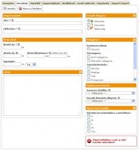 Webáruház termékek felvitele