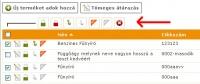 Webáruház - termékek tömeges módosítása